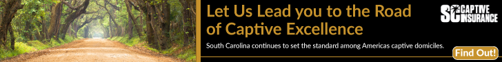 Ad--A forrest path next to, Let us lead you to the road of captive excellence, SC Captive Insurance